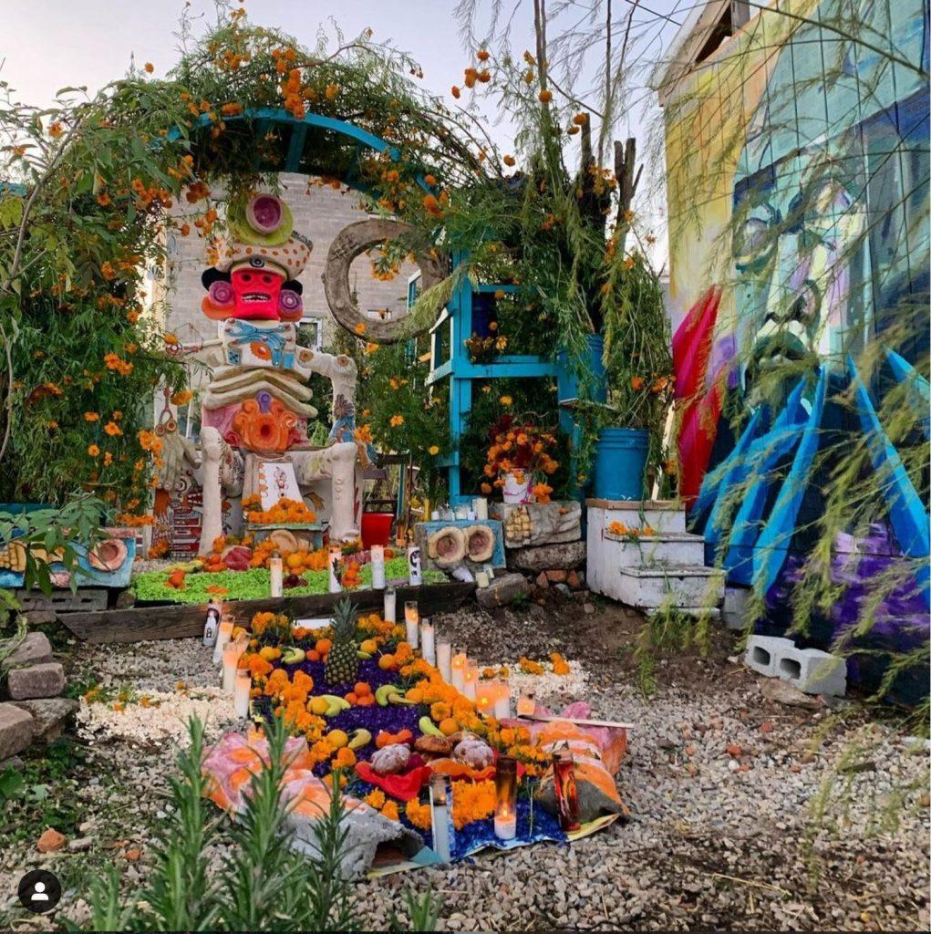 Cesar Viveros, Collaborative artwork at Iglesias Gardens