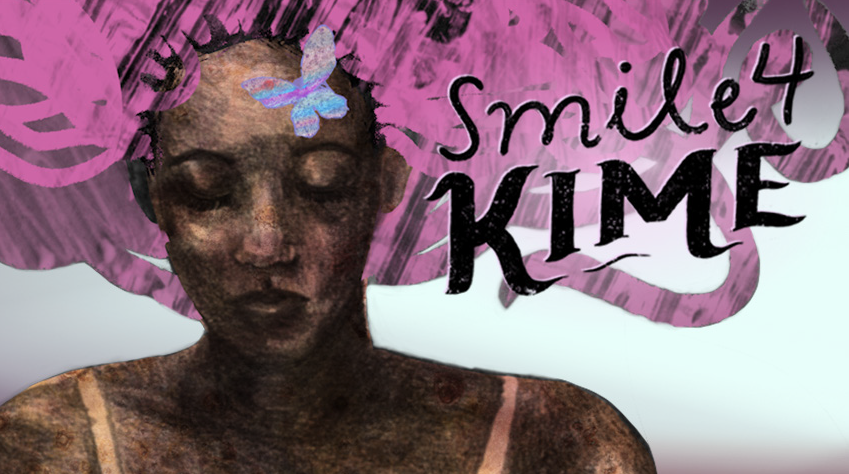 Smile4Kime Project Still, Illustration by Alex Aldrich Barrett and Malachi Lily and design by Pace Fjord